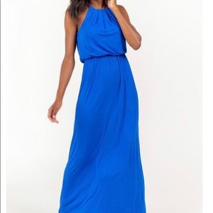 FLAWLESS KNIT MAXI DRESS IN BLUE NWT
